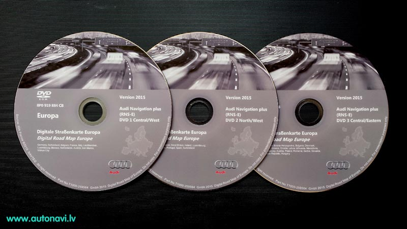 Audi RNS-E Navigation DVD 2015 East West North Central Europe.jpg